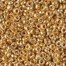 Miyuki Spacer 3x1,3mm 4202 Duracoat Galvanized Gold