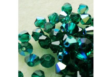 Preciosa 4mm Emerald AB