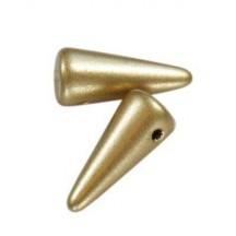 Margele Spikes 5x13mm Mate Metallic Flax