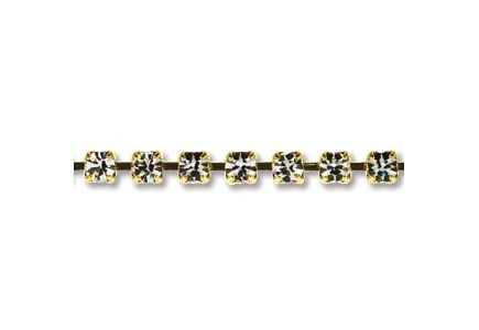 Preciosa 8.5ss Cup Chain Gold Plated