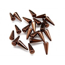 Margele Spikes 5x13mm Dark Bronze