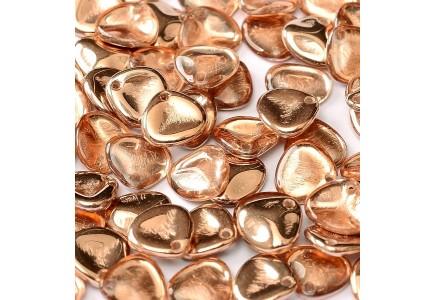 Margele Rose Petals 8x7mm 00030/27101 Crystal Capri Gold