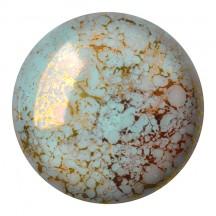 Les Cabochons Par Puca 25mm 63110/15496 Opaque Aqua Bronze