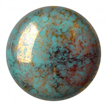 Les Cabochons Par Puca 25mm 63140/15496 Opaque Blue Turquoise Bronze