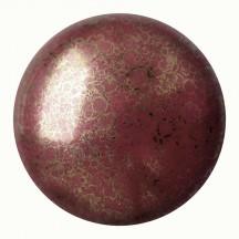 Les Cabochons Par Puca 25mm 93120/15496 Opaque Coral-Red Bronze