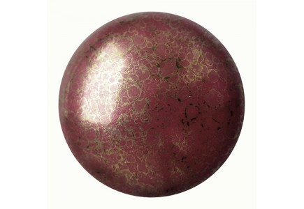 Les Cabochons Par Puca 25mm 93120/15496 Opaque Coral-Red Bronze