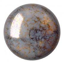 Cabochons Par Puca 25mm 43030/15496 Opaque Grey Bronze
