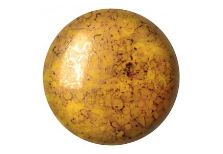 Les Cabochons Par Puca 25mm 83120/15496 Opaque Jonquil Bronze