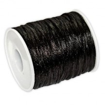 Snur Satin 2mm Negru