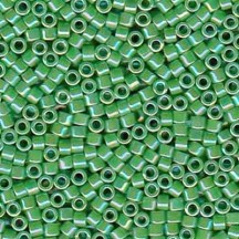 Delica 11/0 DB0163 Opaque Green AB