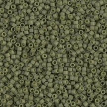 Delica 11/0 DB0391 Opaque Olivine Matted