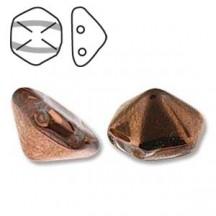 Pyramid Hex 12mm 00030/27101 Crystal Capri Gold