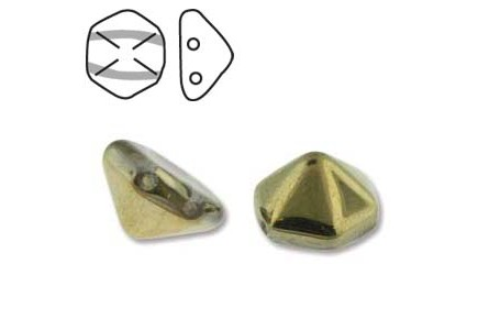 Pyramid Hex 12mm 00030/26441 Crystal Amber
