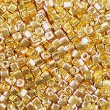 Miyuki Cube 1.8mm 1053 Galvanized Yellow Gold