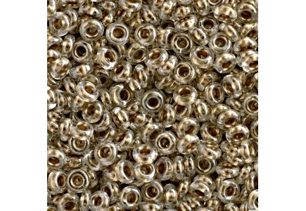 Toho Demi Round 11/0 989 Gold Lined Crystal