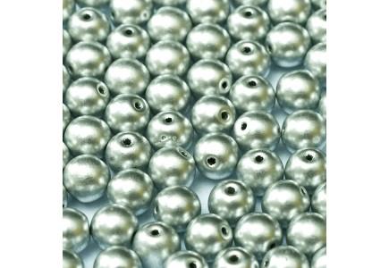 Margele Rotunde 6mm 01700 Aluminium Silver