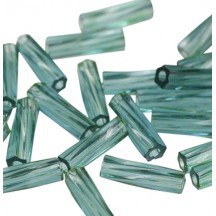 Miyuki Twisted Bugle 2x12mm Dyed Transparent Seafoam 1707