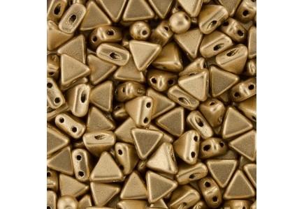 Margele Kheops Par Puca 6x6mm 00030/01710 Light Gold Mat