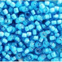 Margele Toho 8/0 0931 Inside Color Aqua White Lined