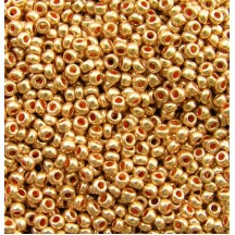 *Margele de nisip Preciosa Ornela 10/0 19001/18583 Galvanized Yellow Gold