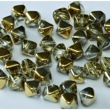 Margele Sticla Cehia Biconice 6mm 00030/26441 Crystal Amber