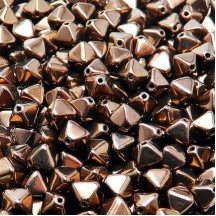 Margele Sticla Cehia Biconice 6mm 23980/14415 Jet Bronze