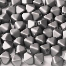Margele Sticla Cehia Biconice 6mm 02010/29403 Alabaster Metallic Steel