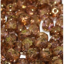 Margele Cehesti Fire-Polish 4mm 00030/15695 Crystal Lila Gold Luster