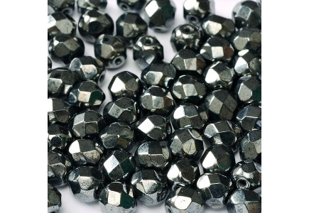Margele Cehesti Fire-Polish 4mm 23980/14400 Jet Hematite