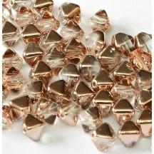 Margele Sticla Cehia Biconice 6mm 27101 Crystal Capri Gold