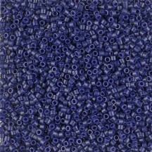 Delica 11/0 DB2144 Matted Opaque Dyed Cobalt