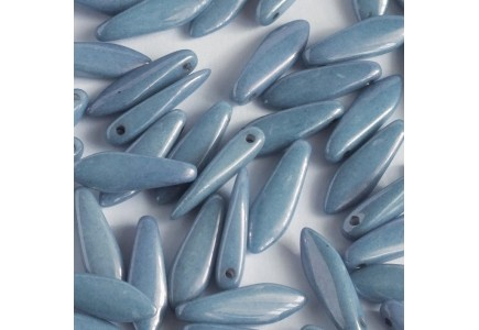Margele Daggers 5x16mm Chalk White Baby Blue Luster 03000/14464