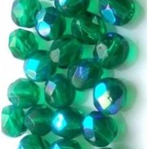 Margele Cehesti Fire-Polish Emerald AB 6mm X50140