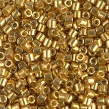 Delica 8/0 DB1832 Duracoat Galvanized Gold