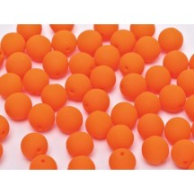 Margele Rotunde 8mm 25122 Neon Bright Orange