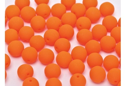 Margele Rotunde 8mm 25122 Neon Bright Orange