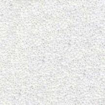 Margele de nisip Miyuki 15/0 0471 White Pearl AB