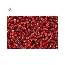 Margele Toho 15/0 0025CF Silver Lined Frosted Ruby