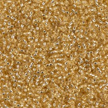 Margele de nisip Miyuki 15/0 0003 Gold Silver Lined