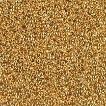 Margele de nisip Miyuki 15/0 5gr 24KT Gold Plated 0191