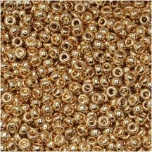 Margele de nisip Miyuki 15/0 5 gr 0193 24KT Gold Plated