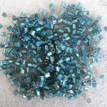 Toho Triangle 11/0 270 Inside Color Crystal/ Metallic  Teal Lined