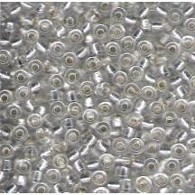 Margele de nisip Miyuki 6/0 4602 Inside Dyed Pearlize Silver