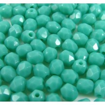 Margele Cehesti Fire-Polish 3mm 53130 Green Turquoise
