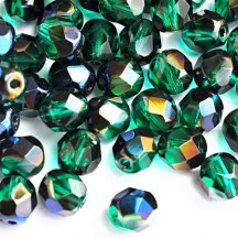 Margele Cehesti Fire-Polish 3mm BR50730 Blue Iris Emerald
