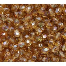 Margele Cehesti Fire-Polish 3mm LK10020 Luster Goldish- Lt. Topaz
