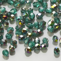 Margele Cehesti Fire-Polish Vitral Emerald 3mm V50730