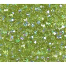 Margele Cehesti Fire-Polish 3mm X50231 Crystal/Olivine AB