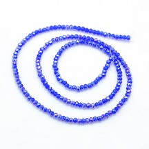 Rondele Sticla 2.5x2mm Royal Blue