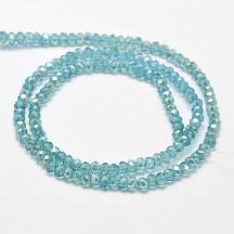 Rondele Sticla 3x2mm Pale Turquoise
